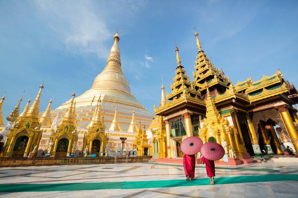 Pagoda de Schwegadon en Yangon