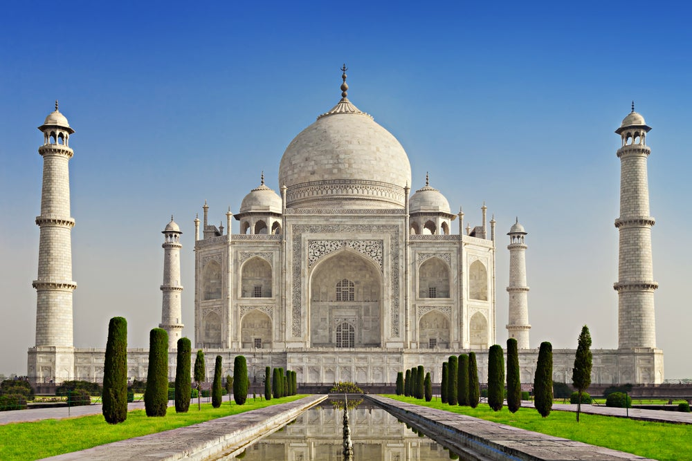 Taj Mahal en el norte de la India
