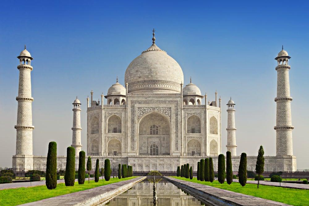 Taj Mahal en la India, uno de los países más baratos