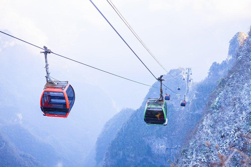 Teleféricos impresionantes: Zhanjiajie