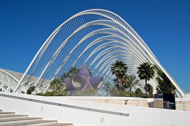 Umbracle en la Ciudad de las Artes de Valencia