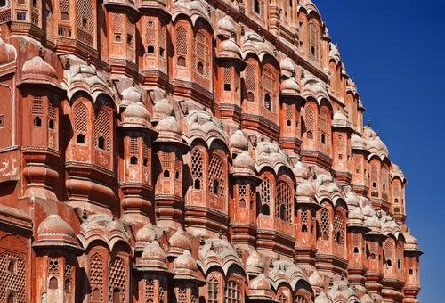 Ventanas del Hawa Mahal de Jaipur