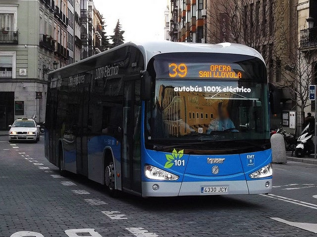 Moverse por Madrid; bus de la EMT
