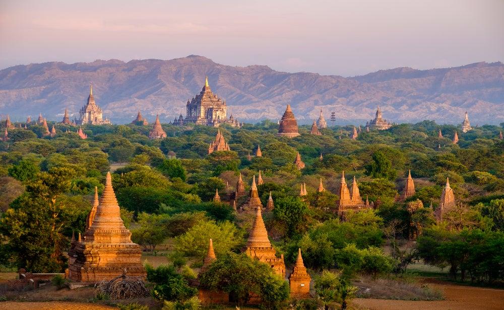 Bagan, vista de los templos