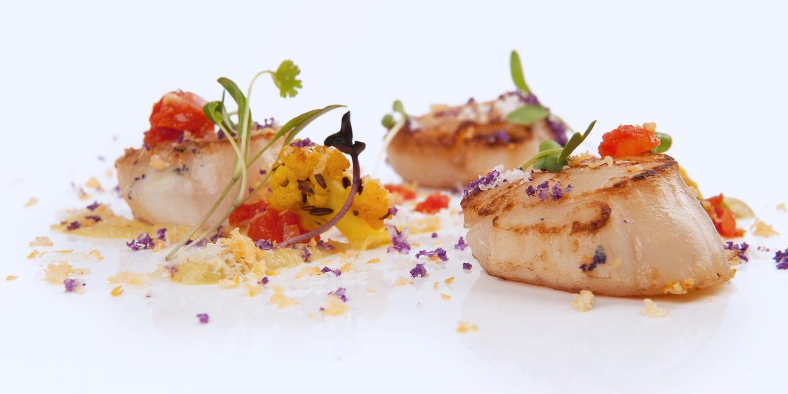 Plato del restaurante Benares en Madrid