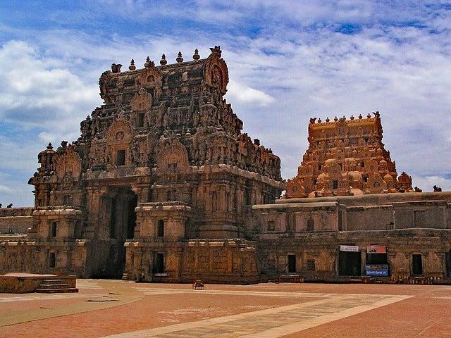 Gorupan en el templo de Brihadisvara