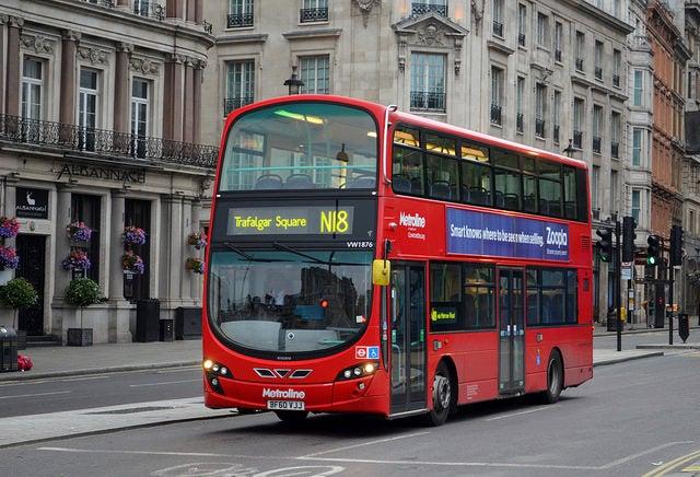 Autobús hacia Trafalgar Square