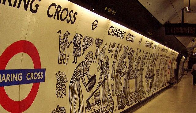 Llegar a Trafalgar Square, estación de Charing Cross