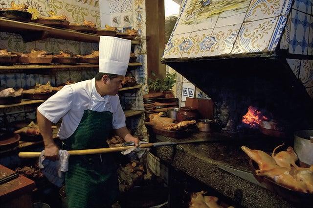 Cocina del restaurante Sobrino de Botín