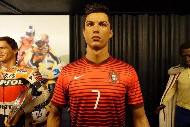 Critiano Ronaldo en el Museo de Cera de Madrid