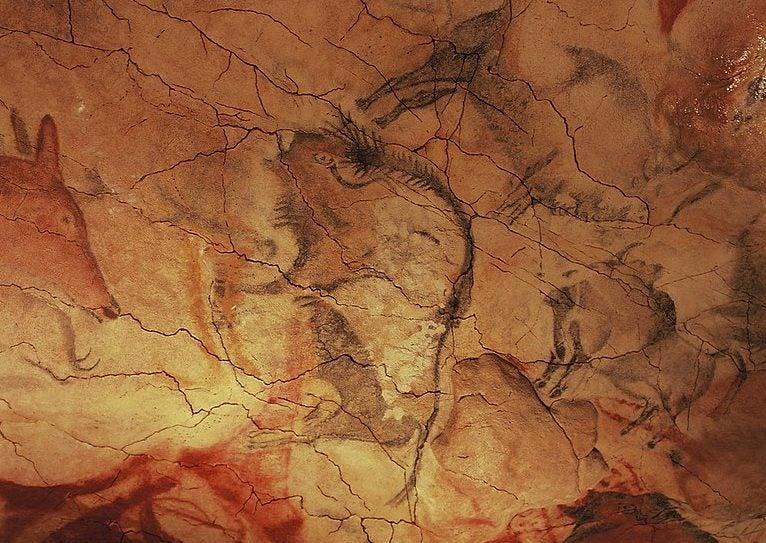 Dibujos en la cueva de Altamira