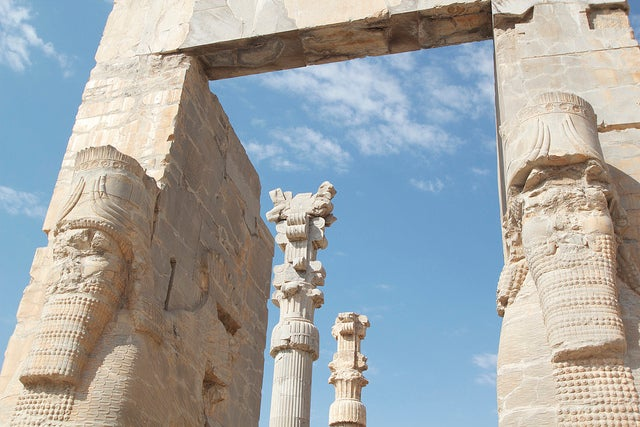 Detalle dela puerta de las Naciones de Persépolis
