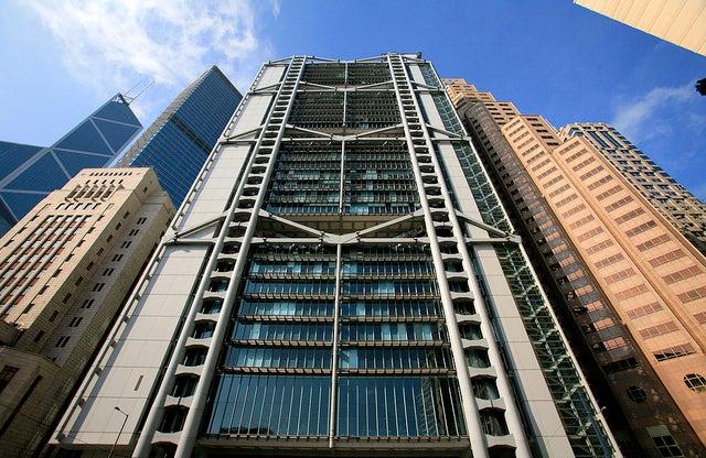 Edificio del HSBC en Hong Kong