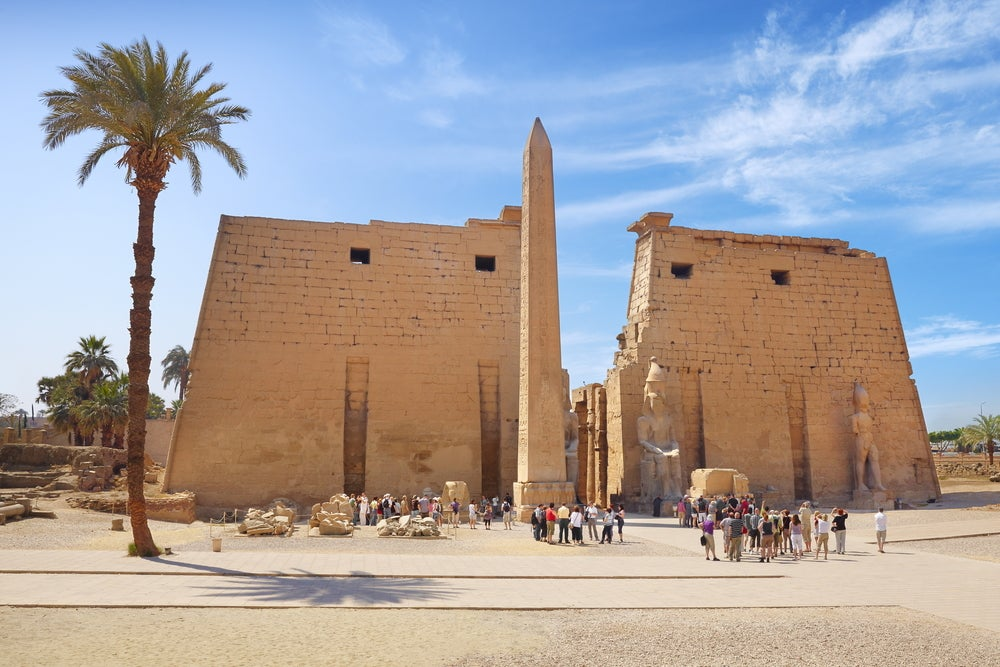 Entrada al templo de Luxor