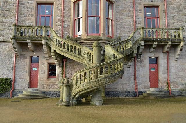 Escalera del castillo de Belfast