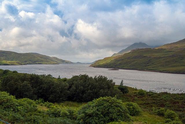 Fiordo Killary en Irlanda