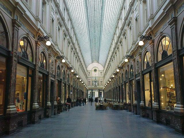Galeries Saint Hubert en Bruselas