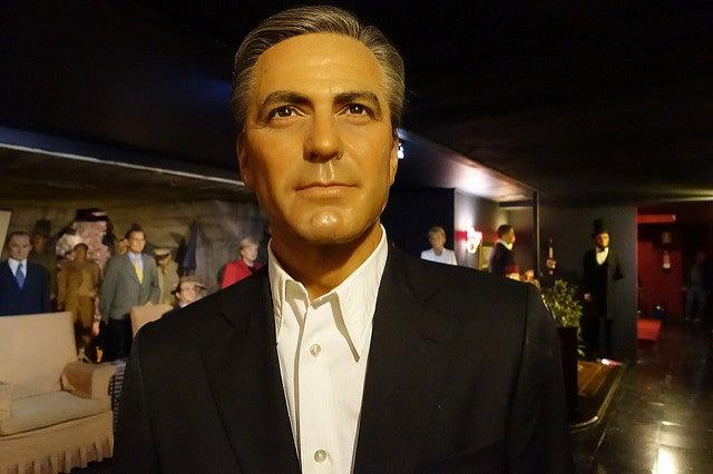 Georeg Clooney en el Museo de Cera de Madrid