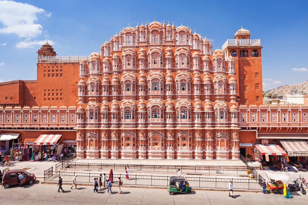 Hawa Mahal en Jaipur, capital de Rajastán