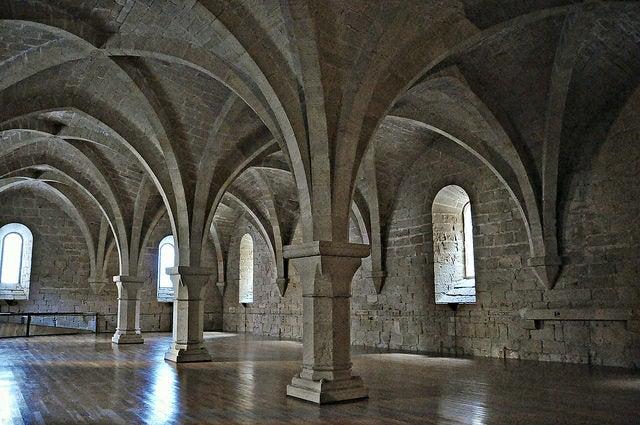 Interior del monasterio de Poblet