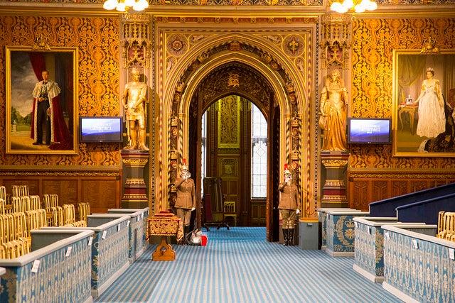 Interior del Parlamento de Londres