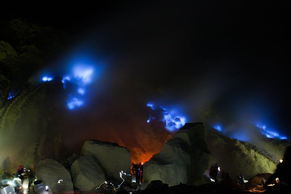 Kawah Ijen en Indonesia