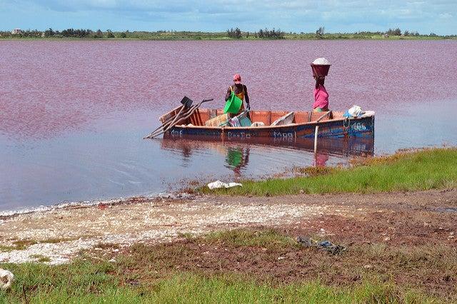 Lago Rosa en Senegal