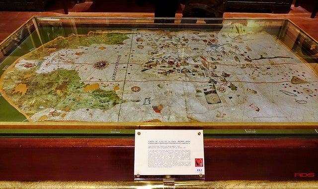 Mapa de Juan de la Cosa en el Museo Naval