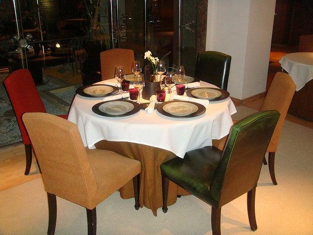 Mesa en el restaurante Santceloni de Madrid
