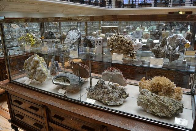 Minerales en el Museo Geominero