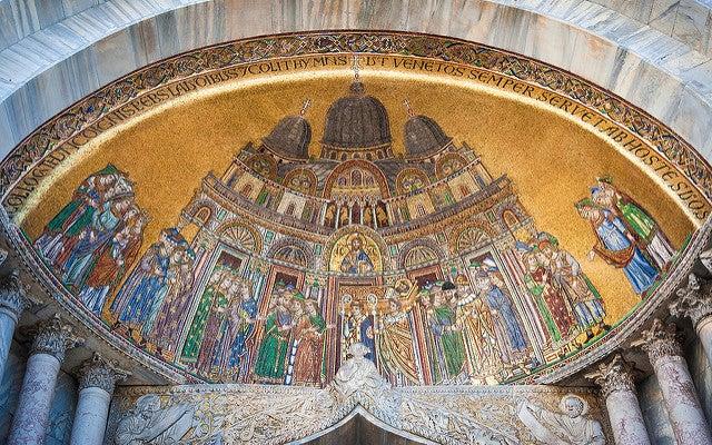 Mosaico en la basílica de San Marcos