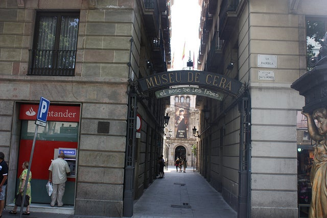 entrada al Museo de Cera de BArcelona