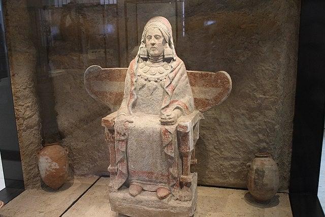 Dama de Baza en el Museo Arqueológico Nacional