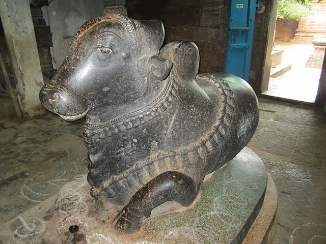 Nandi en el templo de Brihadisvara