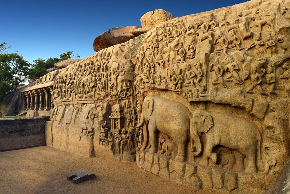 La penitencia de Arjuna en Mahabalipuram