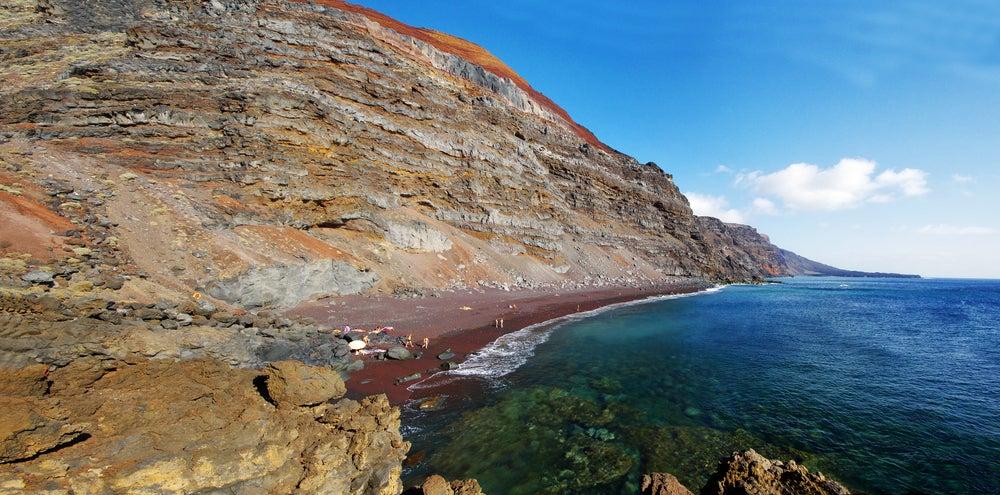 Playa de El Verodal en la isla de El Hierro