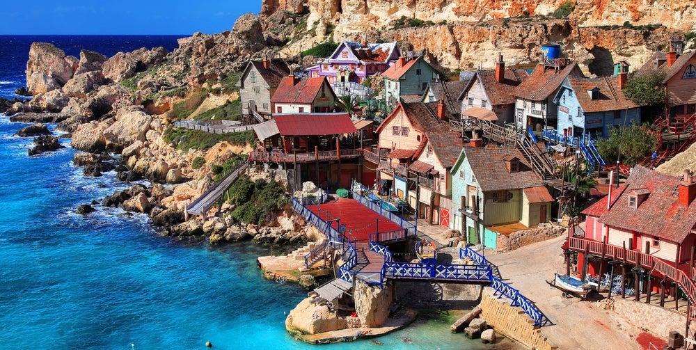 Popeye Village, una aldea espectáculo en la isla de Malta