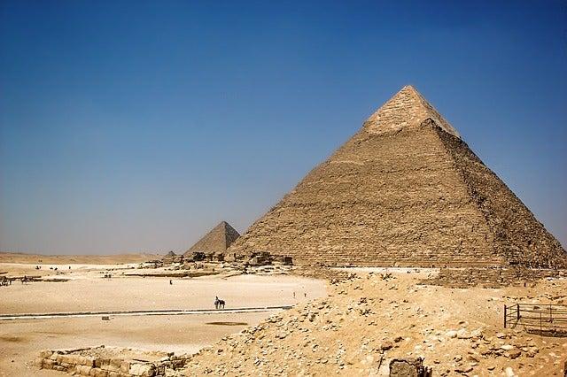 Pirámide de Kefrén en Guiza