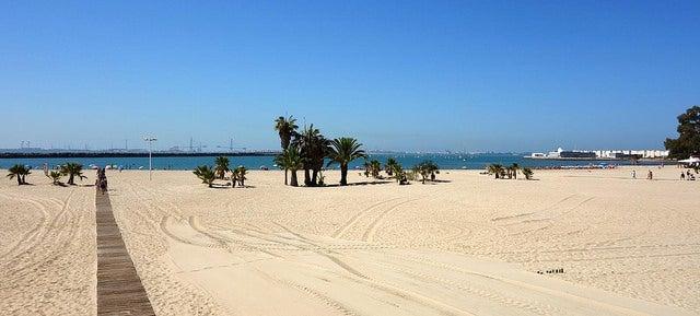 Playa del Puerto de Santa María en Cádiz