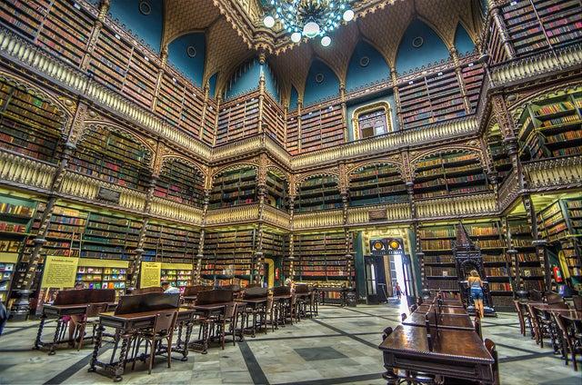 Interior del Real Gabinete Portugués de Lectura