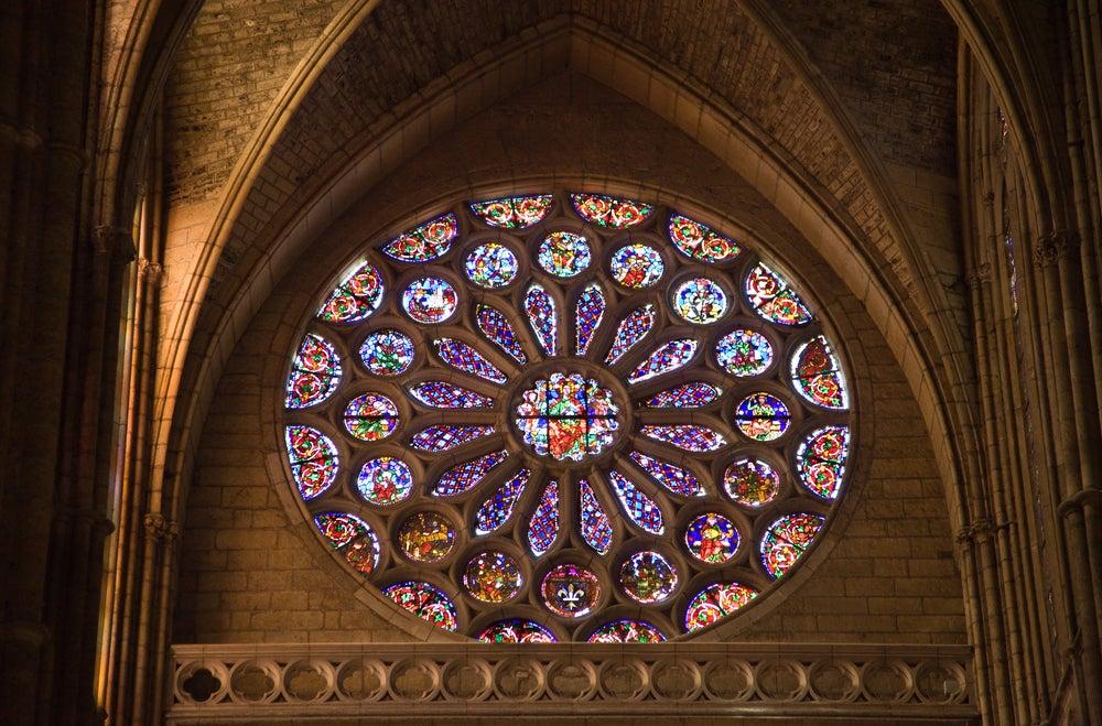 Rosetón en la catedral de León
