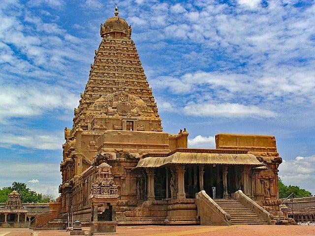 Historia del templo de Brihadisvara en la India