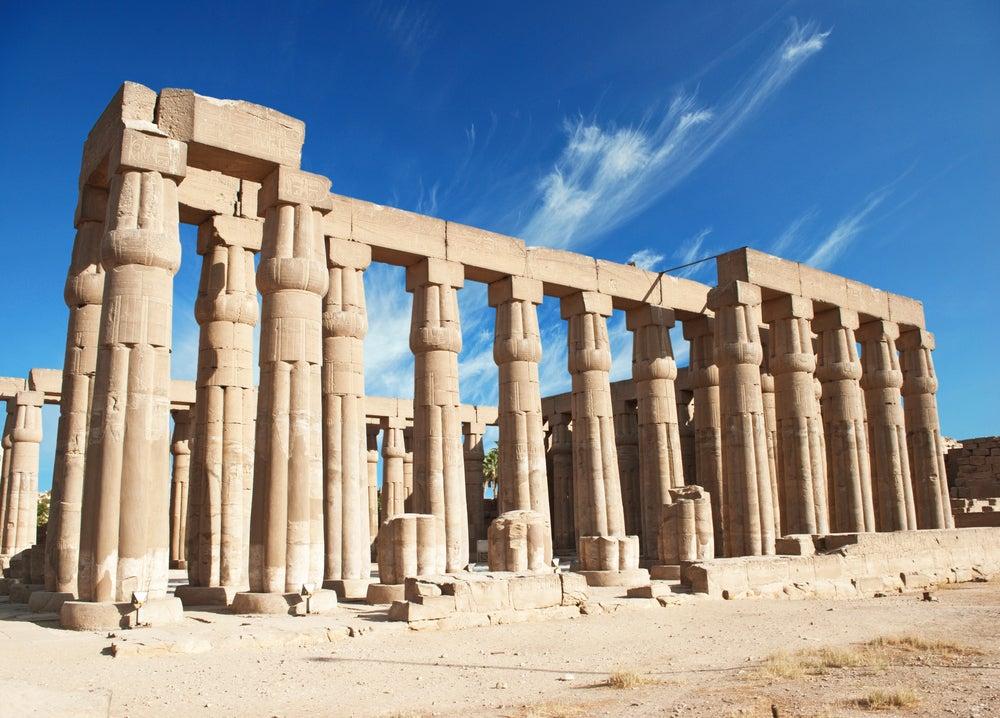 Restos del templo de Luxor