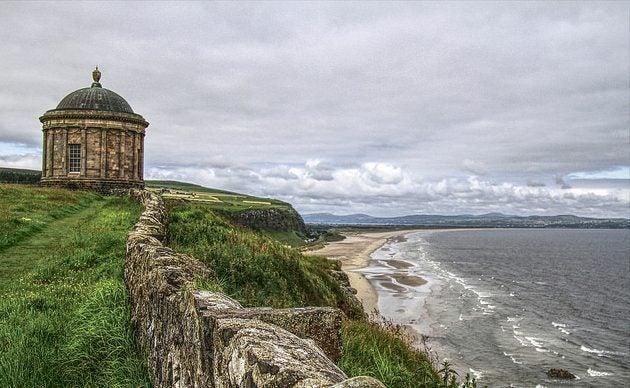 Templo Mussenden en Irlanda