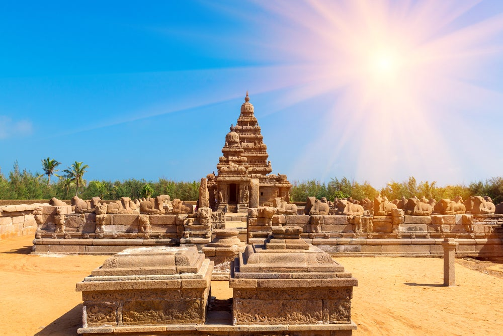 Templo de la Orilla en Mahabalipuram
