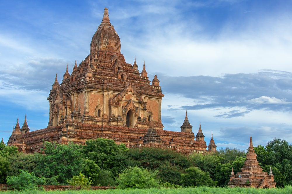 Vista del templo Sulamani