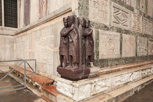 Curiosidades de la basílica de San Marcos: tetrarcas