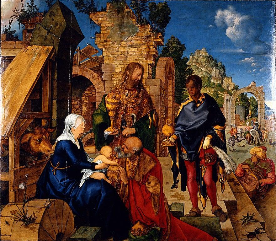 Adoración de los Reyes Magos de Alberto Duurero