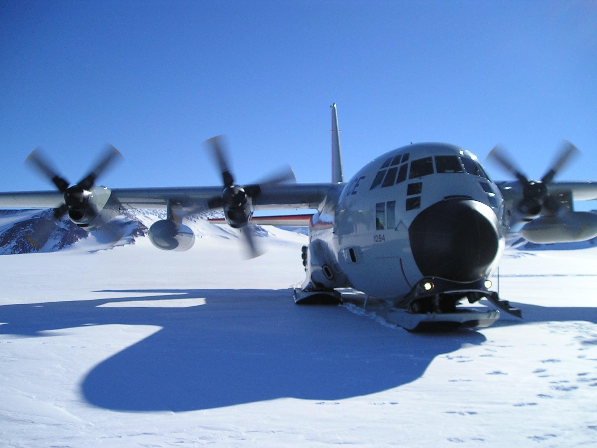 Aeropuerto en la Antártida