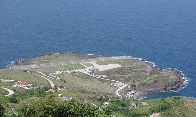 Aeropuerto de Saba, uno de los aeropuertos más peligrosos del mundo
